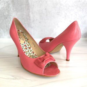 JEFFREY CAMPBELL Vintage Pink Leather Open Heels